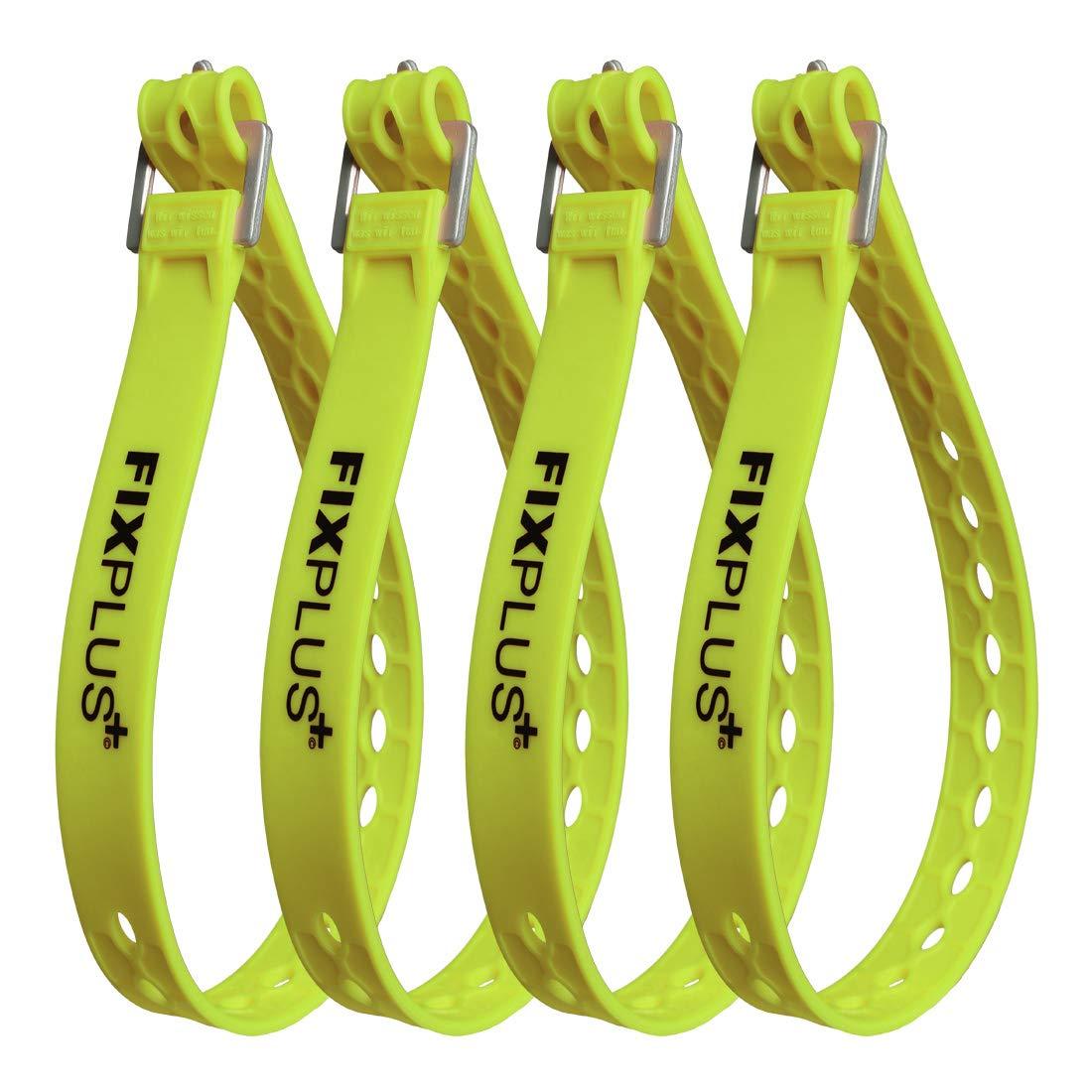 Pack de 4 Correas de Amarre para Fijar Fixplus Strap de pl/ástico Especial con Hebilla de Aluminio 66 cm x 2,4 cm unir y amarrar