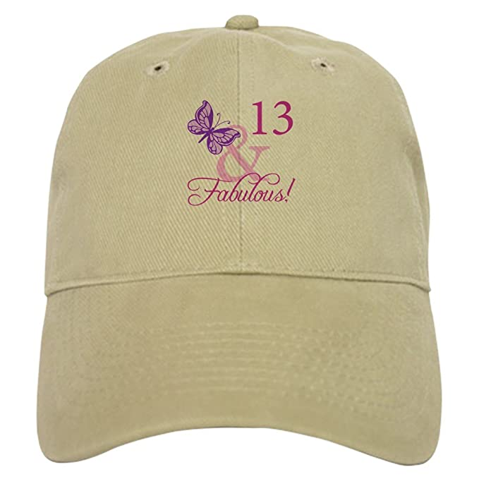 f592ab504ee4a CafePress - Fabulous 13Th Birthday for Girls - Baseball Cap with Adjustable  Closure