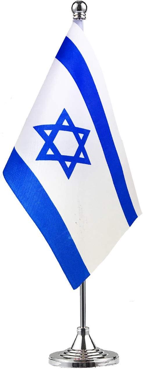 GentleGirl Israel Israeli Table Flag,Desk Flag,Office Flag,International World Country Flags Banners,Festival Events Celebration,Office Decoration,Desk, Home Decoration