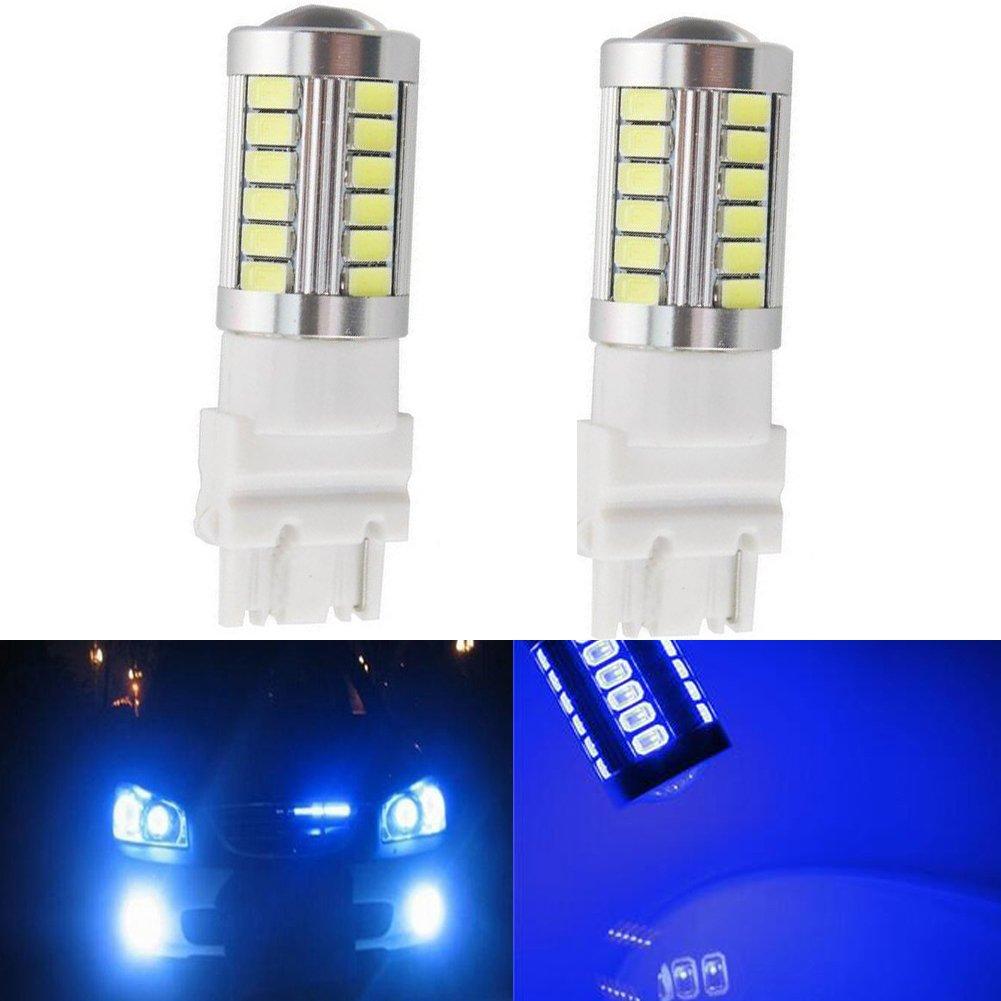 KaTur 4pcs 3157 3047 3057 3155 5630 33-SMD White 900 Lumens 8000K Super Bright LED Turn Tail Brake Stop Signal Light Lamp Bulb 12V 3.6W