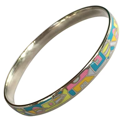d0ca01ff0c93 Amazon.com  EverKid Bangles Bracelets Jewelry Multicolored Enamel Bangle -  Stainless Steel - 3 Colors for Mom on Mother Day - Charming Birthday Gift  for ...