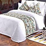 YIH Bed Scarf For Foot Of Bed, Luxury Bedding Runner Bedroom Decorative Hotel 82 x 19 Inch