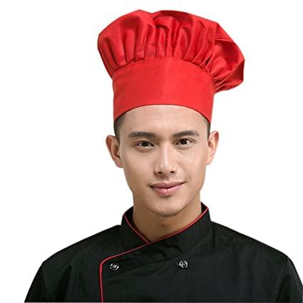 LEORX - Gorro de cocinero alargado b5c0f955308