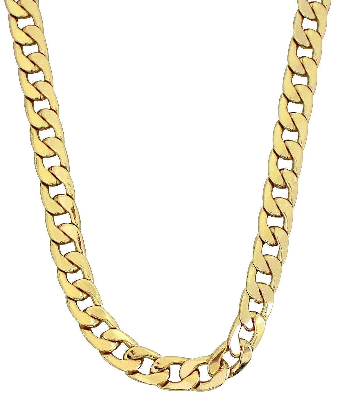 d90d35fc92c1e NewAgeBling Mens 14k Gold Plated Miami Cuban Link 7mm 9mm 12mm Necklace  16