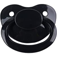 TEN@NIGHT Adult Baby Pacifier ABDL Dummy Nipple Silicone Pacifier DDLG (Black)