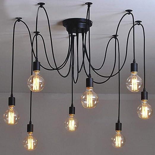 Amazon.com: Industrial Vintage Edison Spider Light-LITFAD 8 ...