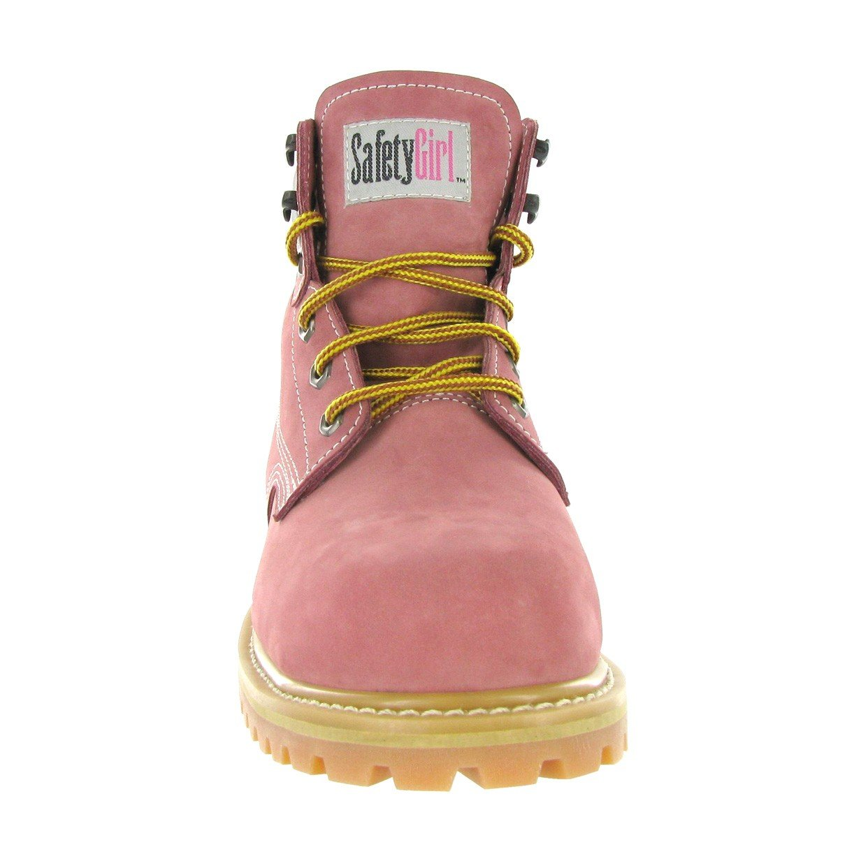 Safety Girl GS003-Lt Pink-9M Steel Toe Work Boots - Light Pink - 9M, English, Capacity, Volume, Leather, 9M, Pink () by Safety Girl (Image #6)