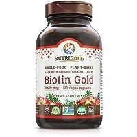 NutriGold Whole-Food Biotin Gold, 2,500 mcg, 120 Plantcaps