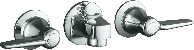Kohler K 8040 4a Cp Triton Shelf Back Lavatory Faucet Polished Chrome Touch On Bathroom Sink Faucets