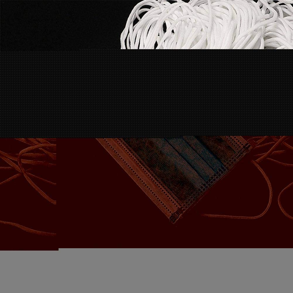 Wei/ß globalqi 50 3Mm Breit Zum N/ähen 100M Gummiband 2,5 Gummizug Gummilitze Elastisches Elastisches Band W/äschegummi N/ähzubeh/ör Gesamtl/änge Von 100 Meter