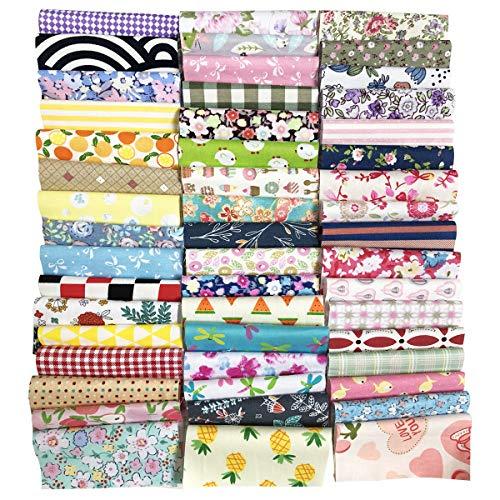 (levylisa 200 PCS(10.2cmx10.2cm)100% Precut Cotton Fabric Bundles, DIY Sewing Quarters Bundle, Cotton Quarter Fabric Bundle, Precut Fabric, Quilting Fabric Bundles, Precut Quilt Kit, Vintage Sheet)