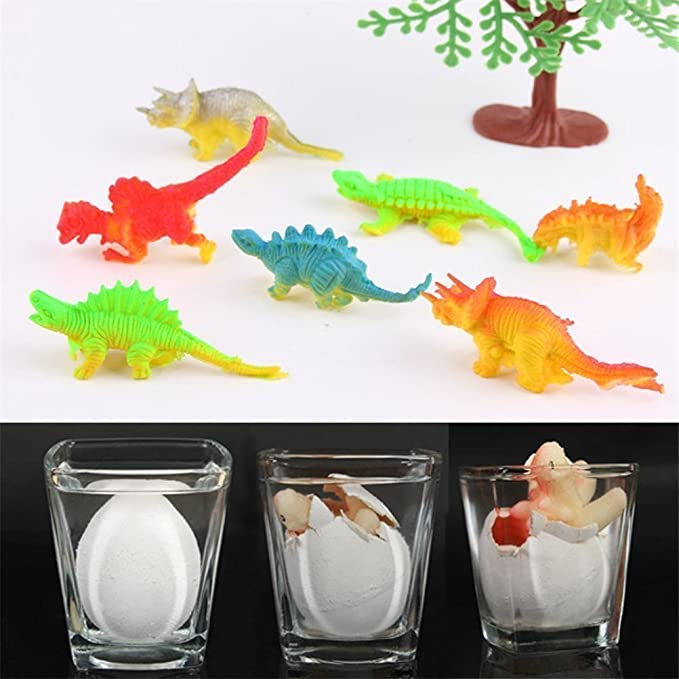 Action Figures Yeelan Hatching Dino Egg Toy Dinosaur Dragon Hatch-grow Eggs Large Size Pack Of