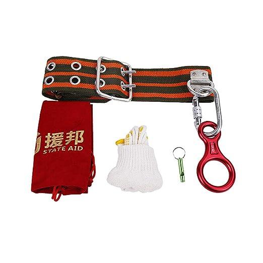 RKY Rescate de incendios en el hogar cuerda de escape descendente cuerda de salvamento de seguridad traje de cuatro piezas multi-longitud opcional Cuerda de ...