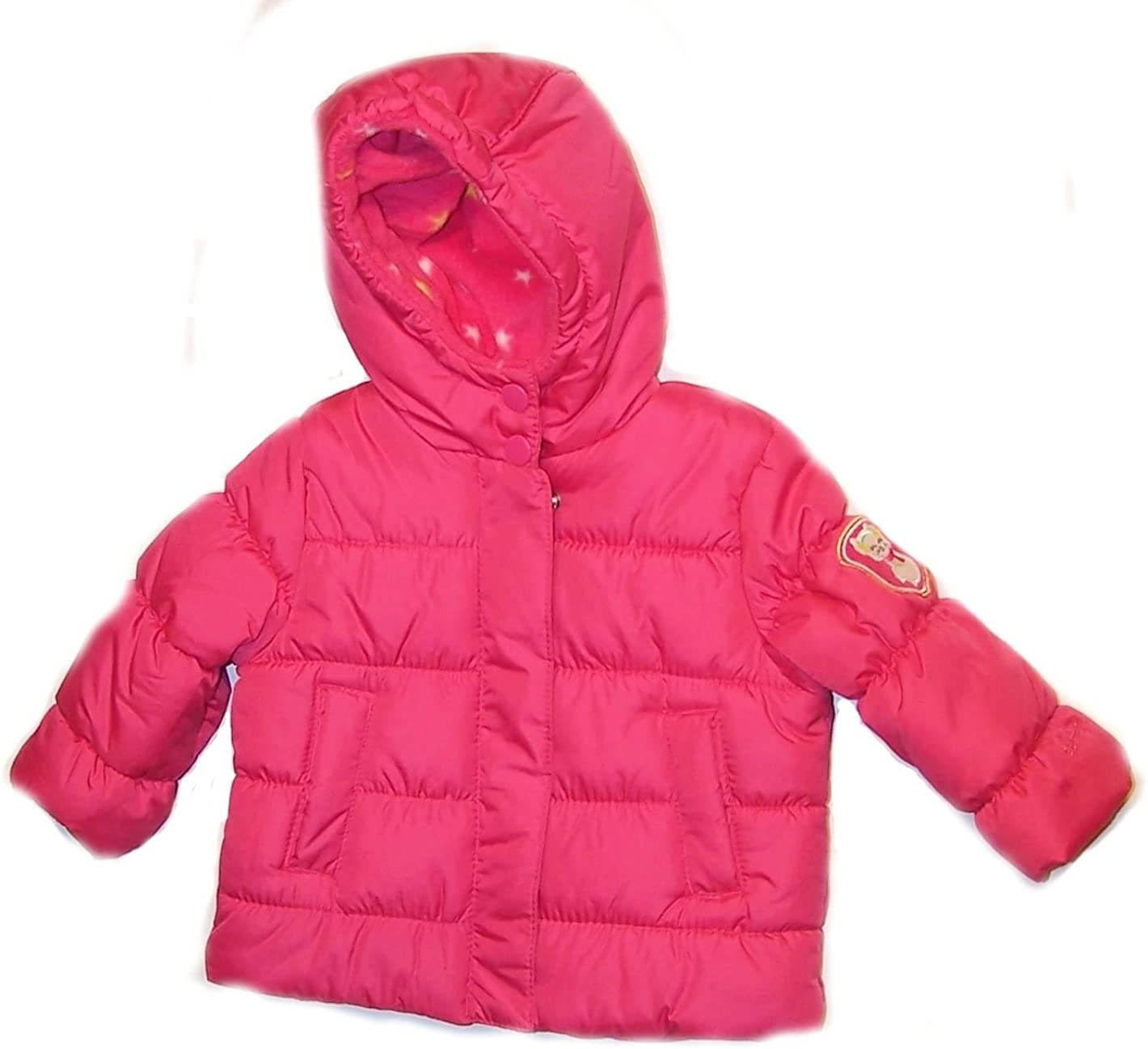 Carters Baby Girls Kitty Puffer Jacket 12m, Pink