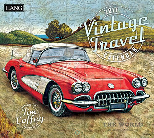 Lang 2017 Vintage Travel Wall Calendar, 13.375 x 24 inches (17991001988)