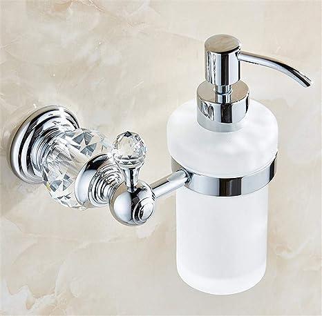 Amgend Dispensadores de jabón líquido Color dorado de lujo Dispensador de jabón montado en la pared