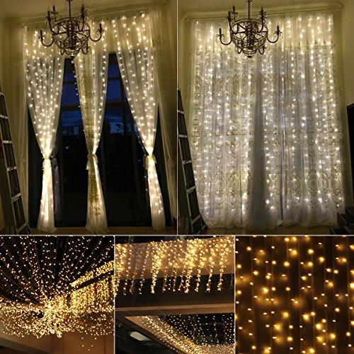 Blusmart Curtain Icicle Lights Window Lights Low Voltage