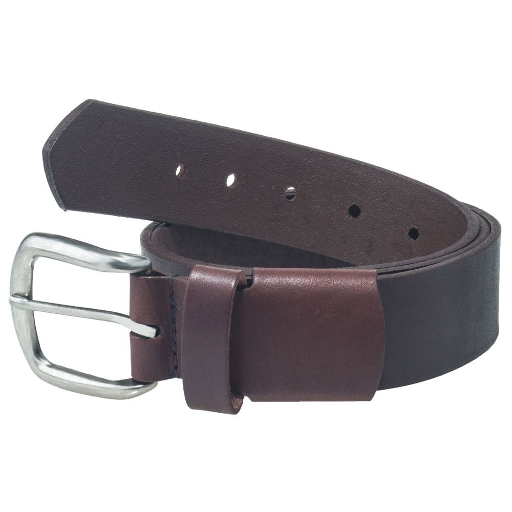 Made In The USA Working Persons 18222E Elastic Stretch Brown Leather Belt