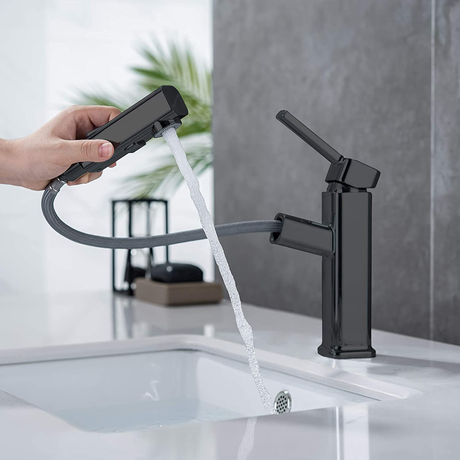 bathroom sink faucet single handle brushed nickel basin mixer tap for hot and cold water sink faucet commercial stainless steel faucet sink faucet