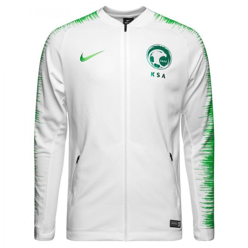 Nike 2018-2019 Saudi Arabia Anthem Jacket (Weiß)