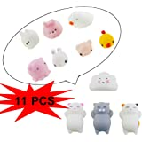 TKOnline Kawaii Cute Slow Rising Animal Hand Toy, Squeeze Kids Toy Gift, Colorful Seals Stress Pressure Vent Hand Toy Decompression Educational Toy