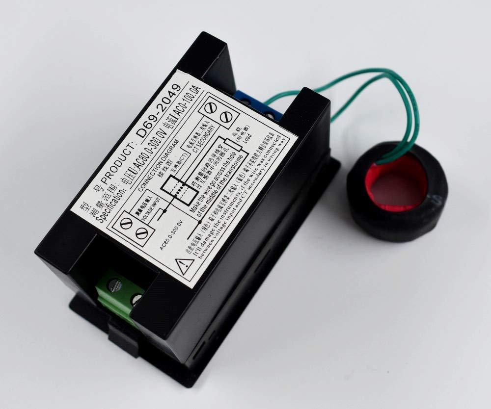 AC 80-300V LCD Digital Voltmeter Ammeter Volt Amp Power Kwh ... on