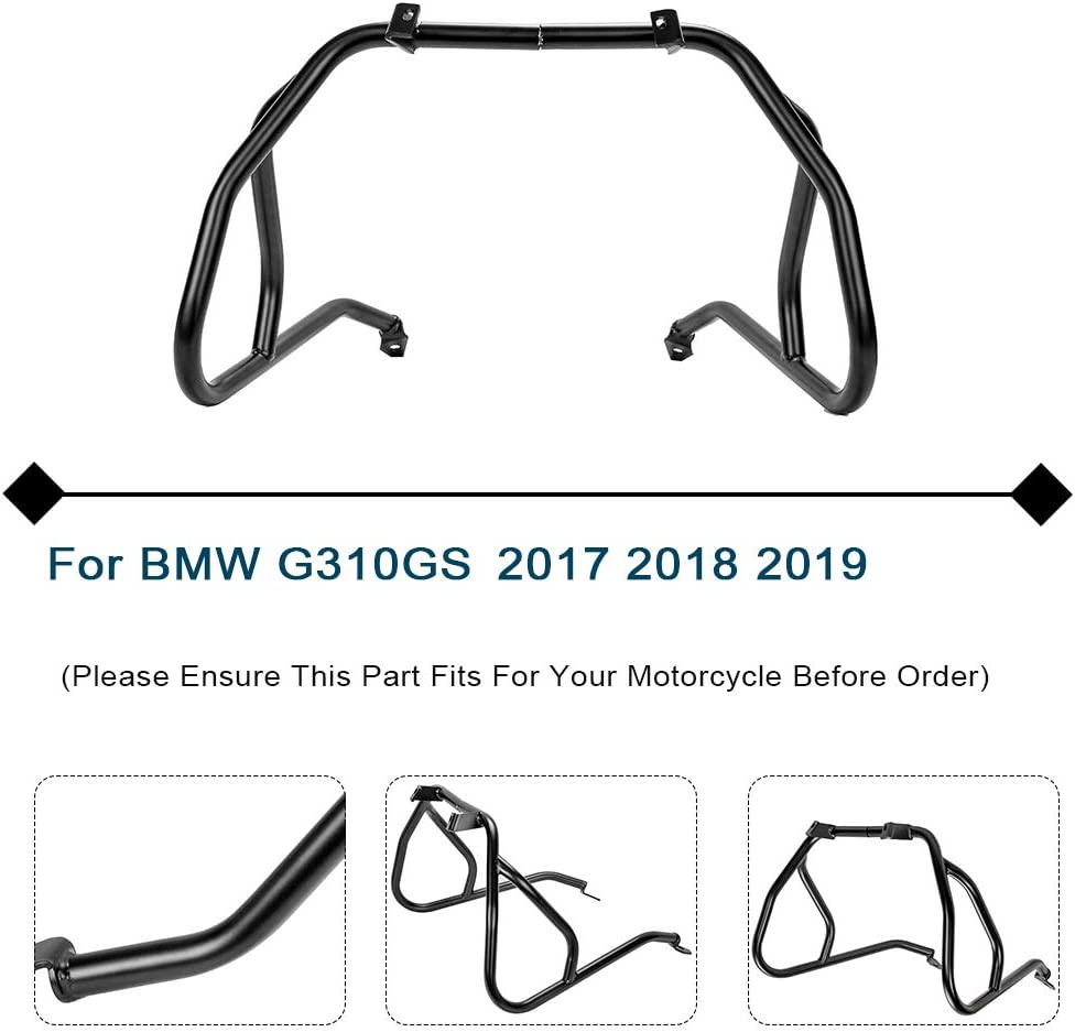 LJBusRoll for BMW G310GS 2017 2018 2019 Motorcycle Accessories Lower Upper Engine Bumper Crash Bar Protection frame Guards G 310GS G 310 GS 17 18 19 1 Full Set