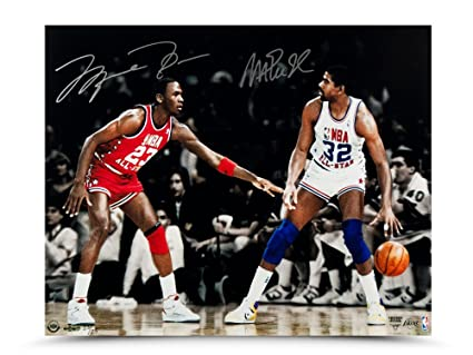 site réputé 03085 5936d MICHAEL JORDAN & MAGIC JOHNSON Dual Signed 1987 All Star ...