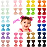 YHXX YLEN 20Pcs Small Baby Hair Bows Ribbon Clips for Girls Toddlers Kids