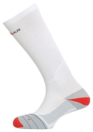IronMan Calcetines Compresión Running 07480 largos color blanco con gris, talla S: Amazon.es: Deportes y aire libre