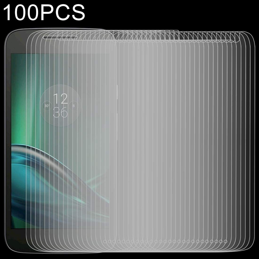 Premium Tempered Glass Screen Film 100 PCS 0.26mm 9H 2.5D Tempered Glass Film for Motorola Moto G4 Play Anti-Scratch Screen Protector