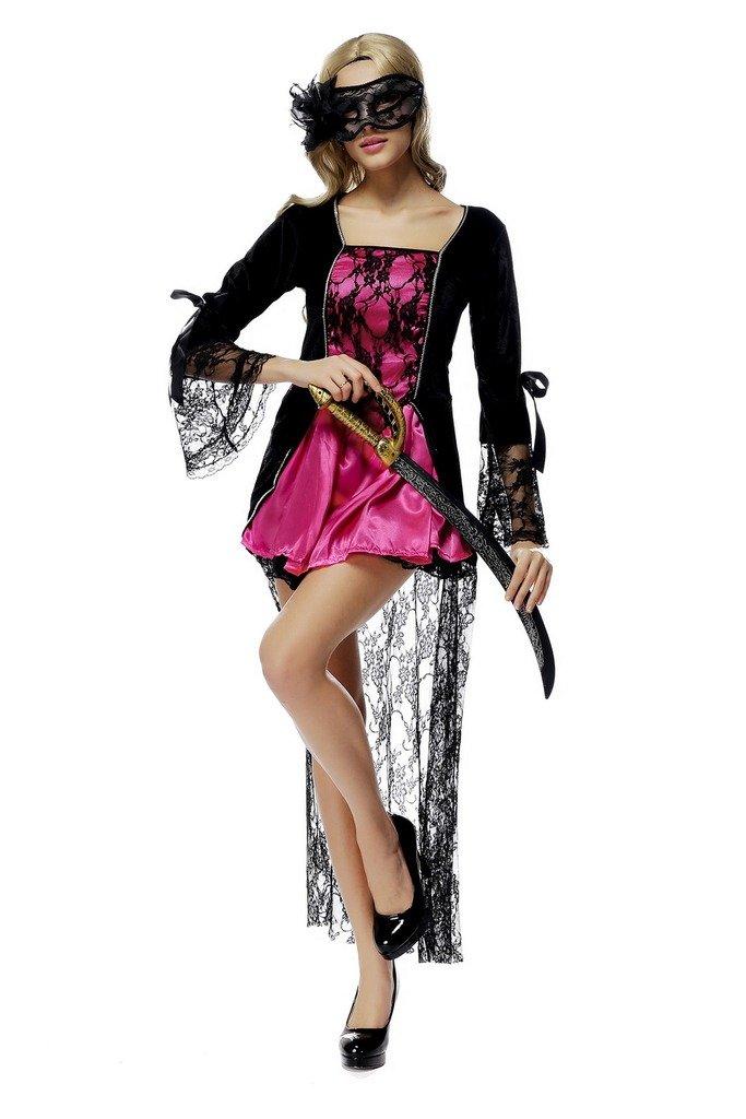 Smile YKK Damen Mode Lace Aermel Halloween Cosplay Kostüm Rollenspiel  Kostüm Rosa: Amazon.de: Spielzeug