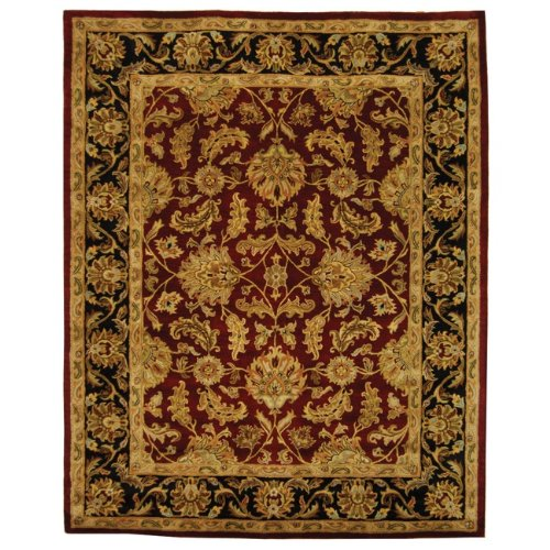 Safavieh Heritage Collection HG628C Handcrafted Traditional Oriental Red and Black Wool Area Rug (12' x -