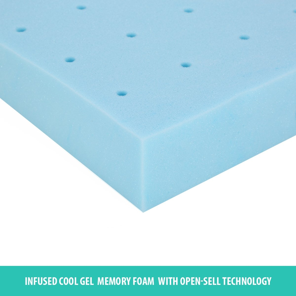luxdream mattress topper 8cm thick high density cool gel memory foam
