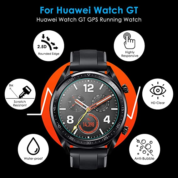 Cavn Tempered Glass Compatible With Huawei Watch Gt Elektronik