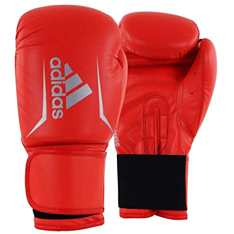 37c779e8dd235 Amazon.com : adidas Speed 50 Boxing Gloves Shock Red/Silver 12 oz ...