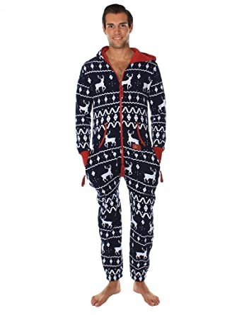 Ugly Christmas Sweater Party - Fair Isle Blue Adult Jumpsuit Size XS