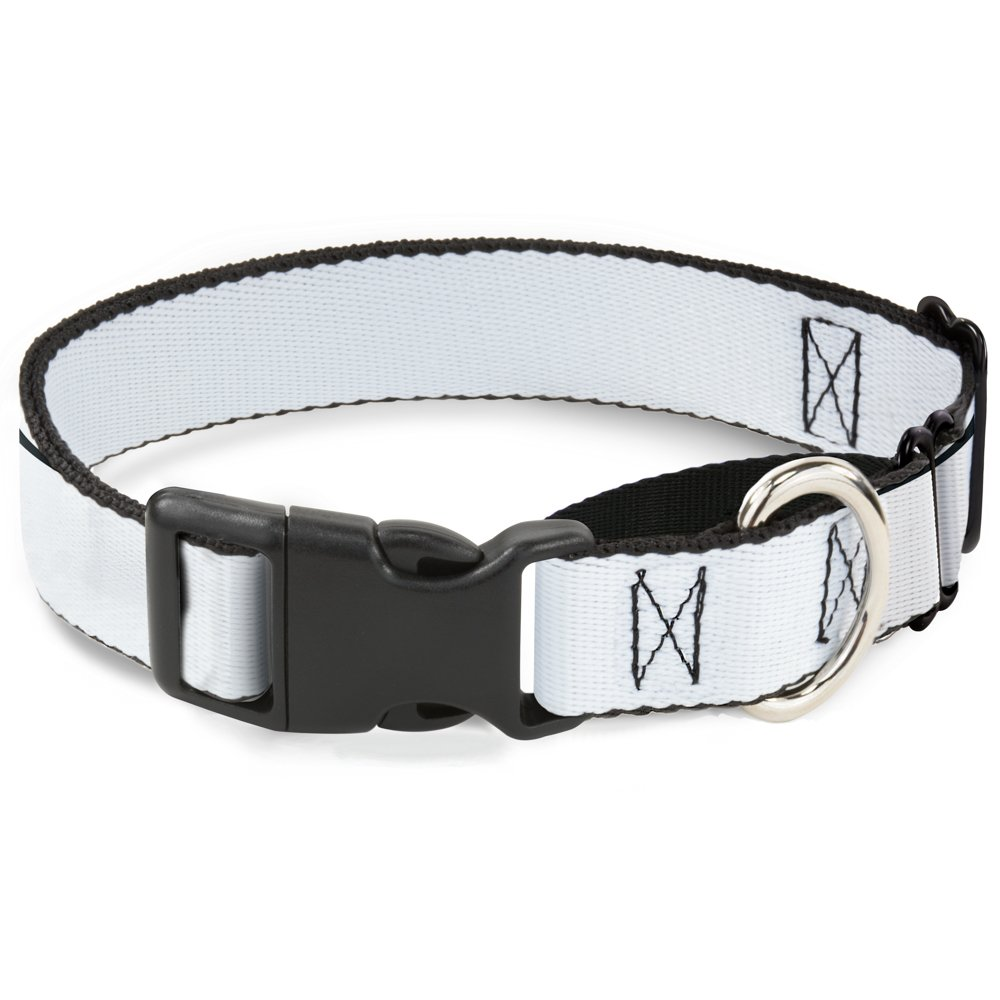 Buckle-Down White Martingale Dog Collar, 1  Wide-Fits 11-17  Neck-Medium