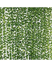KSPOWWIN 78 ft 12 Pack Artificial Ivy Garland Vine, Plastic Ivy Vines Fake Ivy Garland for Wedding Party Decoration Home Kitchen Office Garden Wall Greenery Decoration