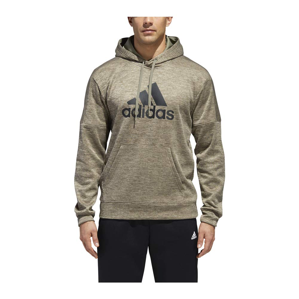adidas Athletics Team Issue Full-Zip Fleece Hoodie, Trace Cargo Melange, 3X-Large by adidas