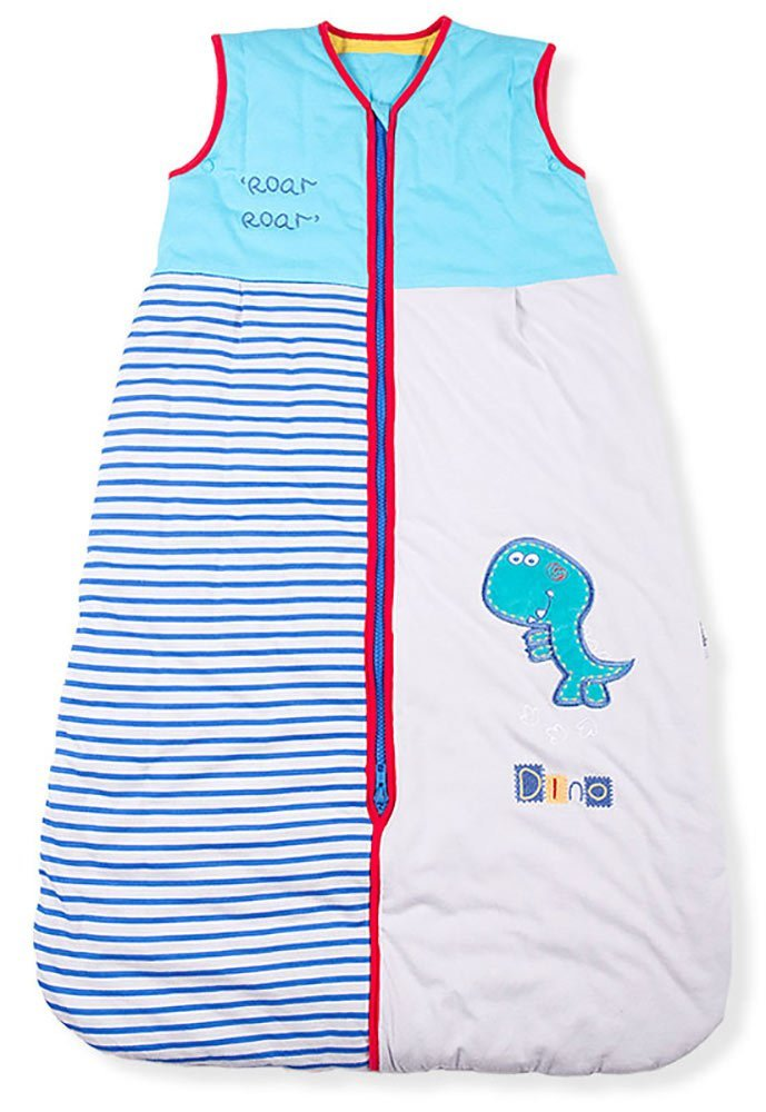 Baby Sleeping Bag, Roar Dinosaur, Kiddy Kaboosh Various Sizes, Winter Weight, 3.5 Tog, Size 4: 3-6 Years, Cosy & Safe, Perfect Presents, Machine washable Mr Sandman