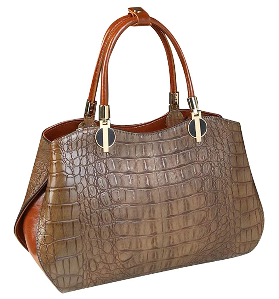 Menglinkai Womens Leather Purse Crocodile Pattern Tote Satchel Messenger Bags