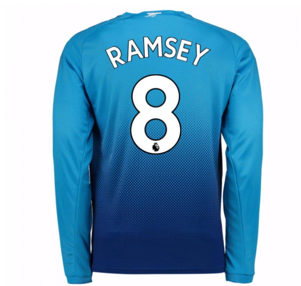 2017-2018 Arsenal Away Long Sleeve Football Soccer T-Shirt Trikot (Aaron Ramsey 8) - Kids