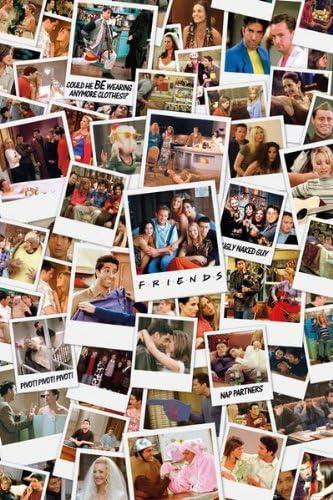 Photomontage Friends Poster grand format 61 x 91,5 cm Plastifi/é