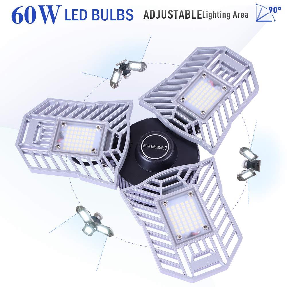 Garage Lighting,E26 Led Bulb 6000LM,Led Garage Ceiling Lights,led Garage Lights,Garage Light Bulb,led Bulb for Garage,led Shop Light,Workshop Light (Daylight, 60w''Standard'') (60w''Standard'' Daylight)