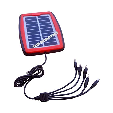 Sunrobotics Solar Panel 1 5w 5v 300ma For Mobile Handheld Devices Charging Diy Project Best For Traveling Mobile Charger Amazon In Garden Outdoors