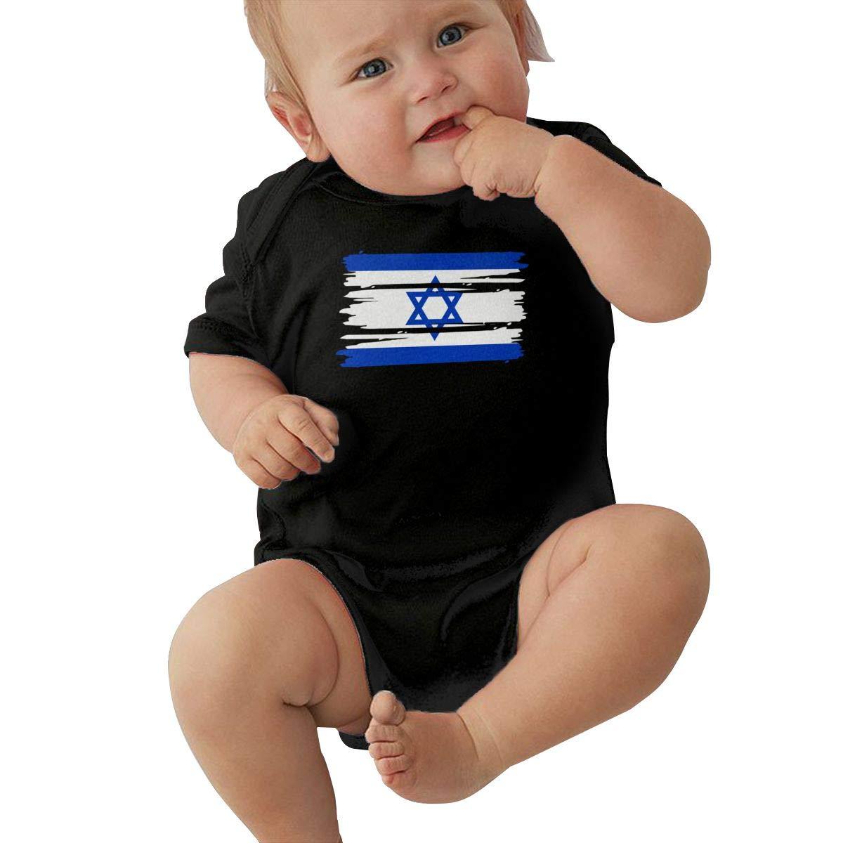 TAOHJS97 Newborn Israel Flag Short Sleeve Climbing Clothes Playsuit Suit 6-24 Months