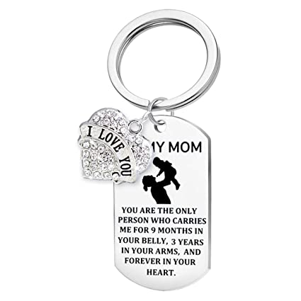 Christmas Gifts For Mom From Son.Mom Gifts For Mother S Day Birthday Or Christmas Gifts For Mom From Daughter Or Son Mom Daughter Keychain Come With A Gift Box Style B