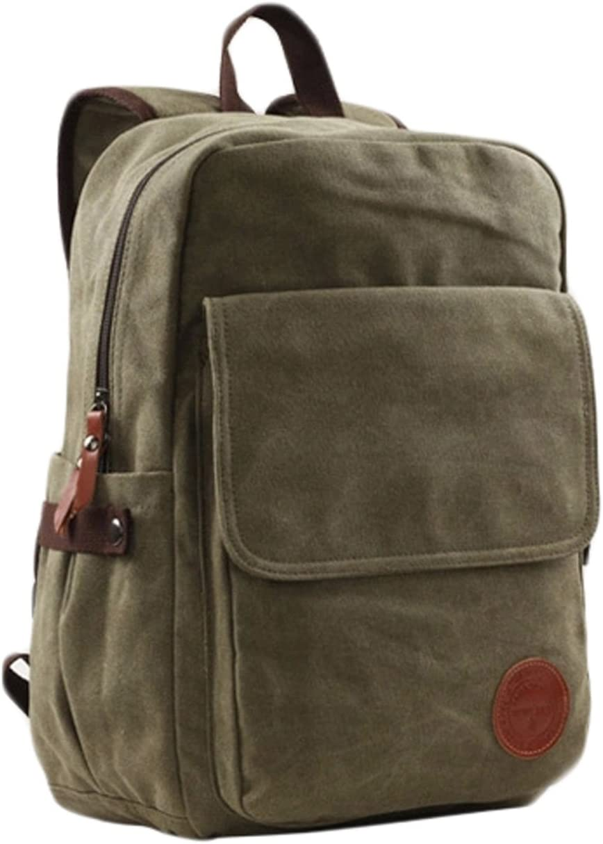 amy green Large Capacity Canvas Backpack Travel Bag School Bags 3