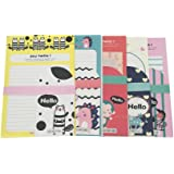 tuutyss say hello various cute animals writing stationery paper letter set 30 sheets 15